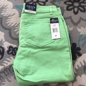 Denim - Mint Green crop jeans